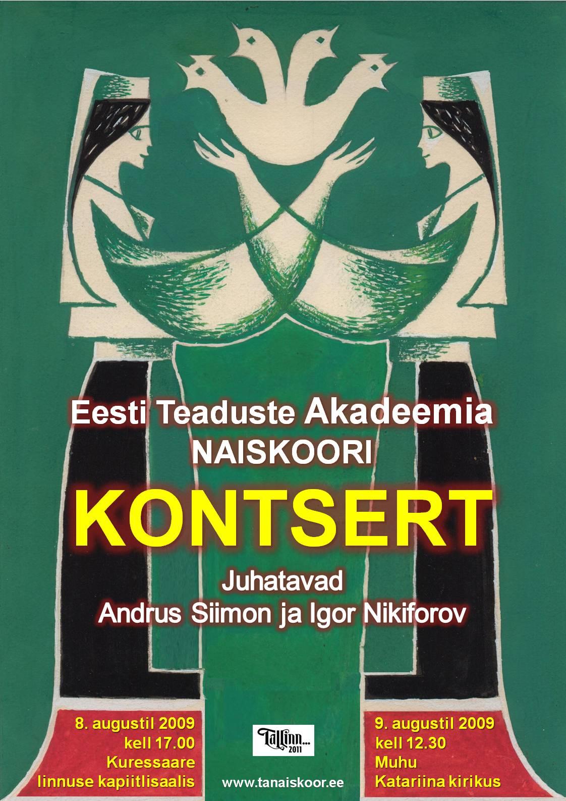 Kontserdid Saaremaal 8.-9.08.2009